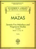 Mazas 75 Melodious and Progressive Studies