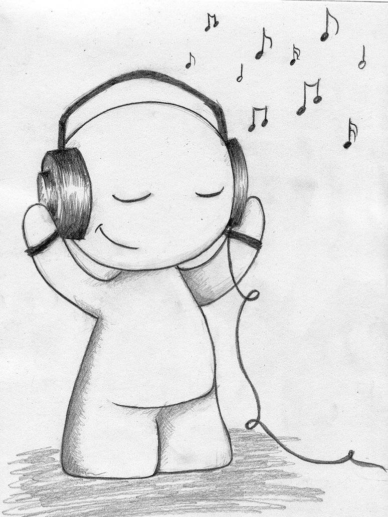 music listening sheet scenes behind promotions drawing drawings easy simple listen cute idea doodle choral stanton romantic related things cartoon