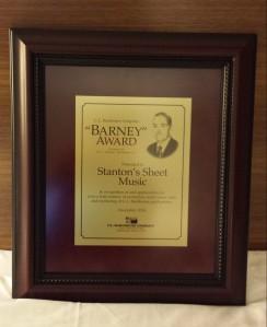 barney award