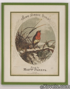 sheet_music_sing_birdie_sing_colored_lithograph_s_brainard_co_cleveland_frame