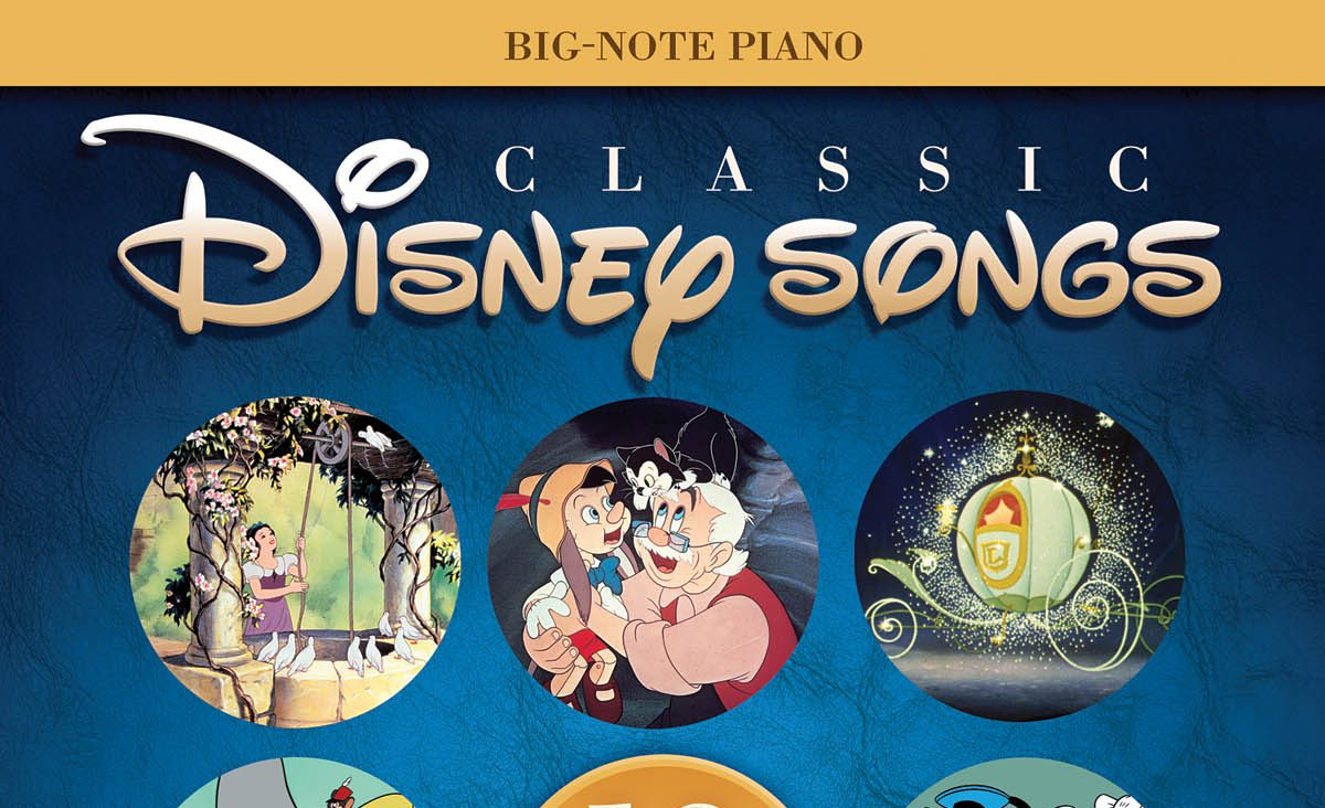 Classic Disney Songs for Big-Note Piano